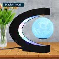 LED Tisch Lampe Magnetische Levitation 3D Druck Mond Lampe Kreative Geburtstag Geschenk Home Office Mond Tisch Lampe Schlafzimmer Nacht Lampe
