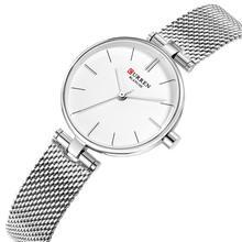 CURREN Womens Wristwatch Hot Sale Montre Femme 2019 Simple Casual Ladies Watches Gift Stainless Steel Quartz Watch Waterproof