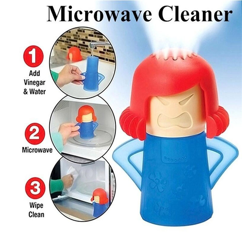 Angry Mama Microwave Cleaner Easily Cleans Oven Steam Appliances for The Kitchen Refrigerator cleaning