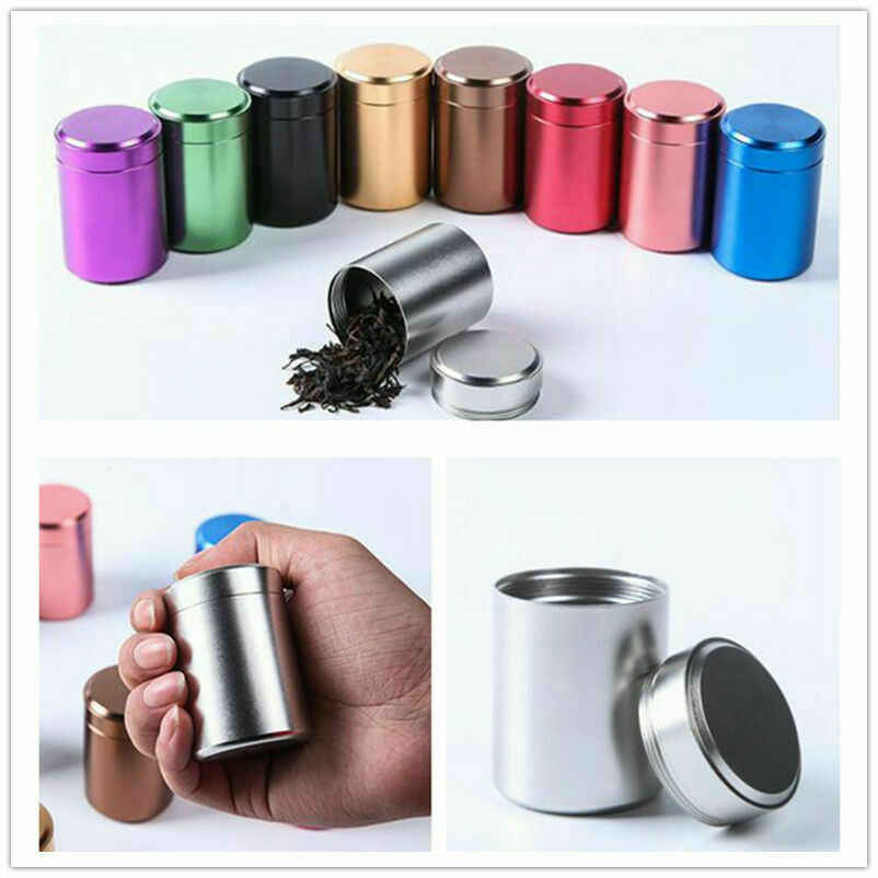 Hermetyczny zapach dowód pojemnik aluminiowy kolorowy Herb Stash Tea Jar Sealed może całkiem gorący ceramiczny fajka młynek do ziół