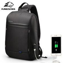 Kingsons mochila unissex impermeável, mochila impermeável de 13 polegadas para laptop, uso diário, para adolescentes, viagens e negócios