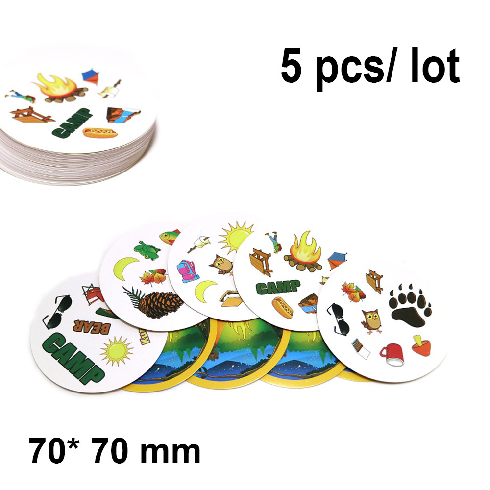 5 Pcs/ Lot Spot Camp Card Game 70 Mm For Kids Enjoy It Home Party Fun English High Quality Outdoor Board Games