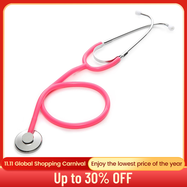 Portable Single Head Stethoscope Doctor Medical Equipment Professional Cardiology Stethoscope Student Vet Nurse Medical Device