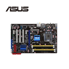 Soket LGA 775 için ASUS P5Q SE orijinal kullanılan masaüstü Intel P45 anakart DDR2 USB2.0 SATA2