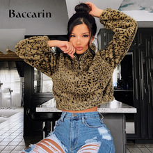 leopard lambswool teddy pullover women sweatshirt zipper crop top casual streetwear 2019 autumn winter clothes thick women sweatshirt leopard lip print pullover hoodied o neck long sleeve crop top streetwear female fashion ladies clothes d30