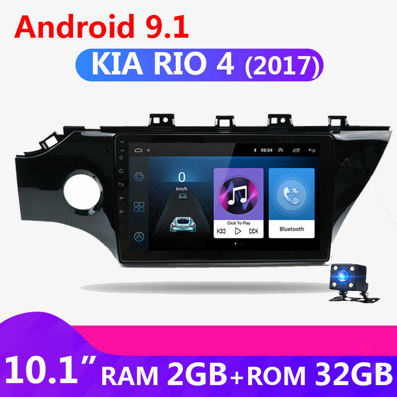 10 Inch 2 Din Android 9.1 Auto Auto Radio Voor Kia Rio 4 2017 Touch Screen 2din Gps Navigatie Wifi autoradio Video Bluetooth