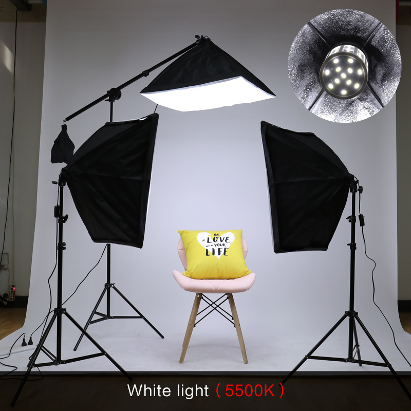Image 3 - Photography Studio Softbox Lighting Kit Arm for Video & YouTube Continuous Lighting Professional Lighting Set Photo Studio-in Photo Studio Accessories from Consumer Electronics