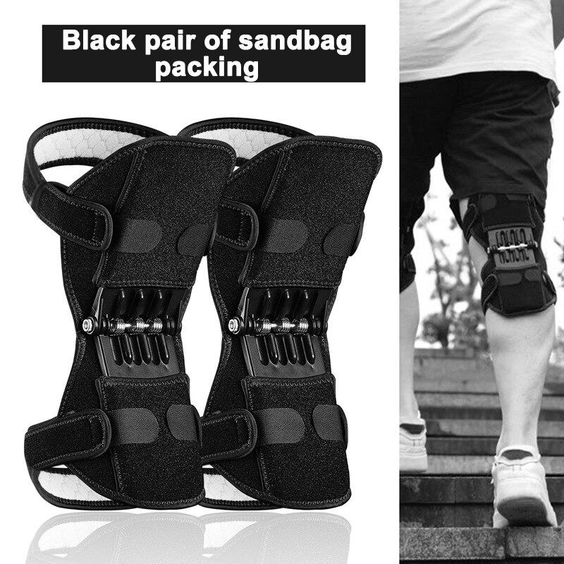 Protetor de joelho com suporte das articulações, joelheira de tecido respirável e antiderrapante com poderoso efeito rebote de levantamento, reforço na força dos joelhos, perna, primavera protetor