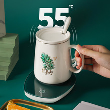 Constant Temperature Coaster Intelligent 55 Degree Automatic Heating Warm Coaster Thermos Cup Heating Water Cup Coaster