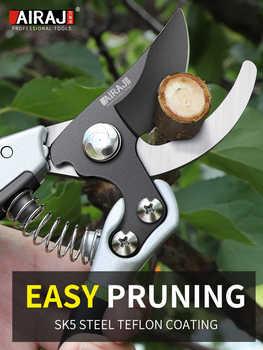 AIRAJ Enhanced Pruning Shears Garden Scissors Large Opening, Labor-saving Rough Shears Fruit Tree Branch Pruning Tools