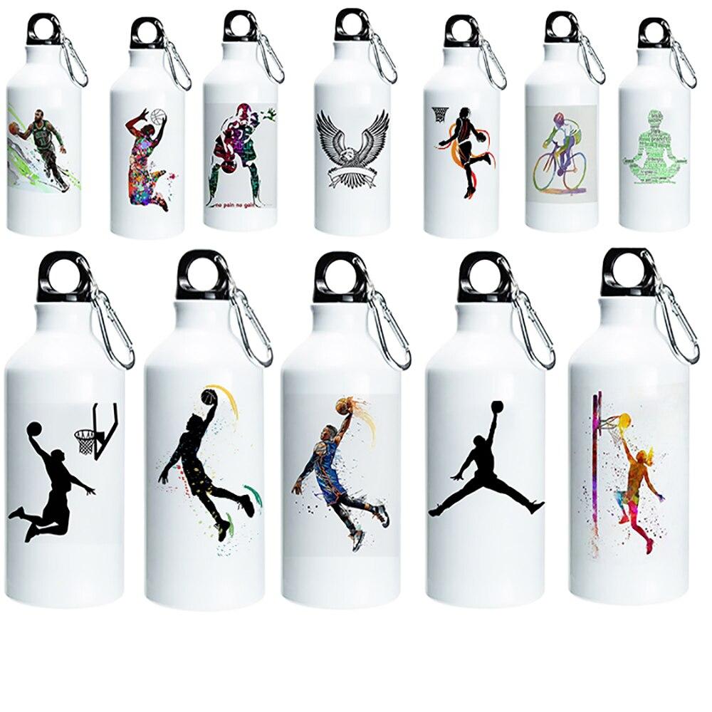 Персонализированная Спортивная бутылка для воды, металлическая бутылка с изображением баскетбольного кофе, подарки на день Святого Валент...
