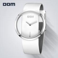 Dom женские модные красные кварцевые часы Дамские кожаные высококачественные