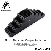 FormulaMod Fm-CoRa2H 39 мм Толщина Медь радиатора 120/240/360/480 мм черный радиаторы подходит для 120 вентиляторы