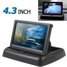 4,3 дюймовый цветной TFT LCD HD автомобильный монитор заднего вида авто 4,3 монитор заднего вида Поддержка парковки с 2CH видео входом