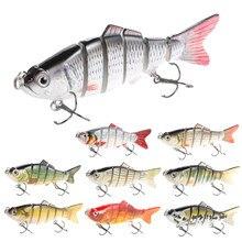 1 pçs wobblers iscas de pesca multi-seção isca dura 10cm 19g isca artificial minnow crankbait jig poleiro carpa pesca enfrentar isca