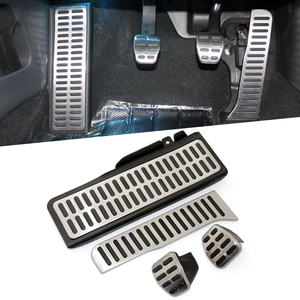 Image 1 - VCiiC Stainless Steel Pedal Pads Foot Rest for Skoda Octavia A5 For Volkswagen  VW Golf 6 Jetta MK5 Scirocco Tiguan 2015