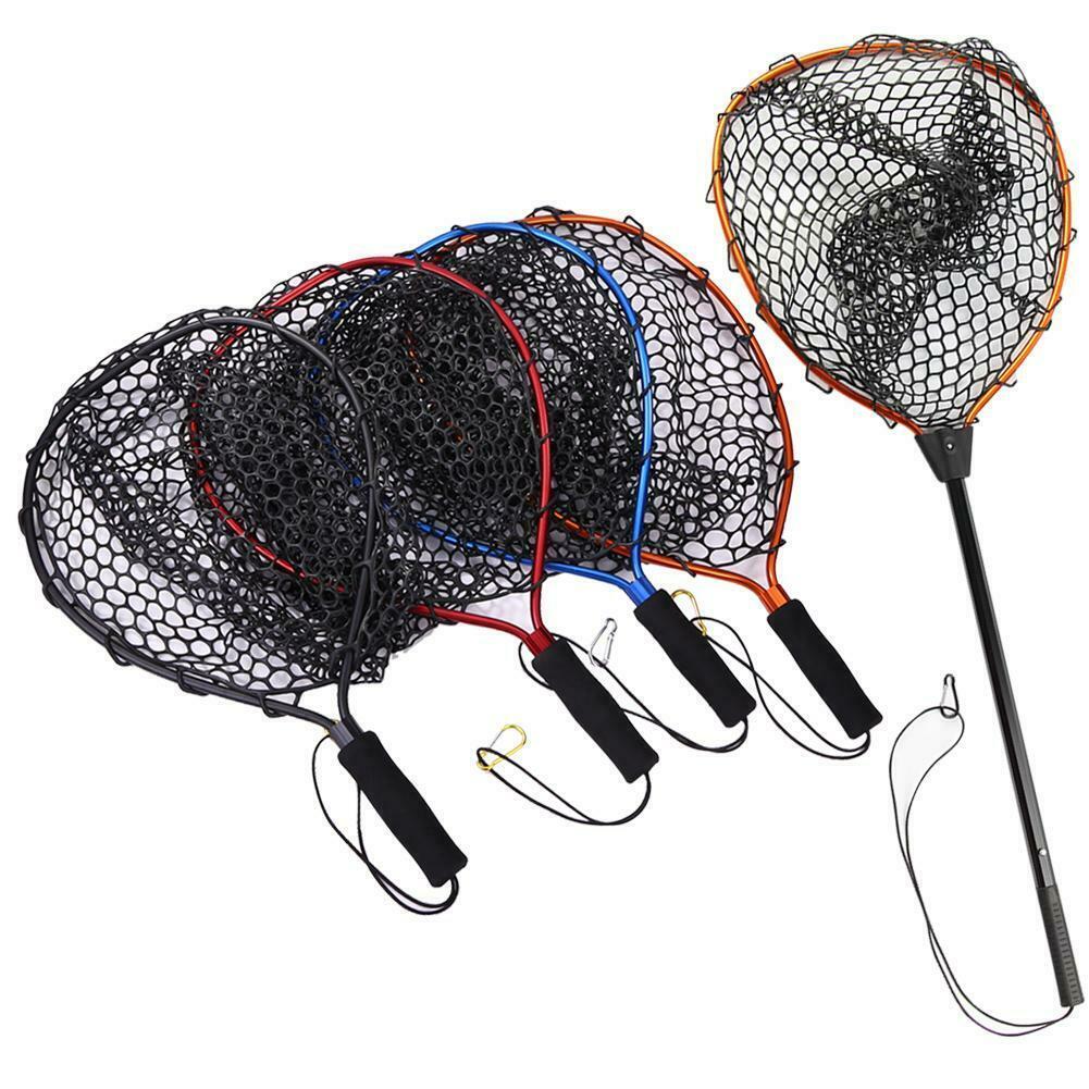 ALI shop ...  ... 4000092727815 ... 5 ... Portable Fishing Net Aluminum Alloy Pole Retractable Telescoping Foldable Landing Rubber Net for Fly PVA Fishing Network SD669 ...