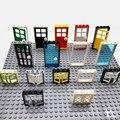MOC Ziegel Haus Türen Windows Teile Stadt Freunde Bausteine Kompatibel Alle Marke Montieren Spielzeug für Kinder Creator Bloque