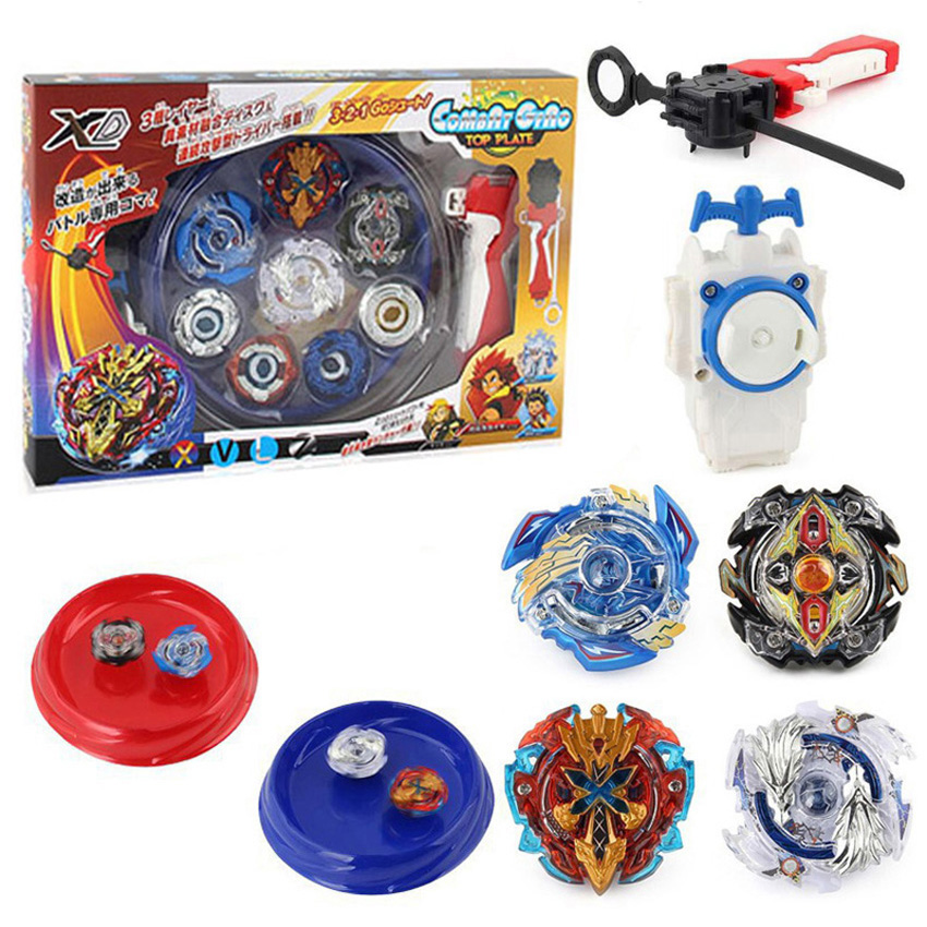 4pcs/set Beyblade Arena Spinning Top Metal Fight Bey Blade Metal Beyblade Stadium Children Gifts Classic Toy For Child