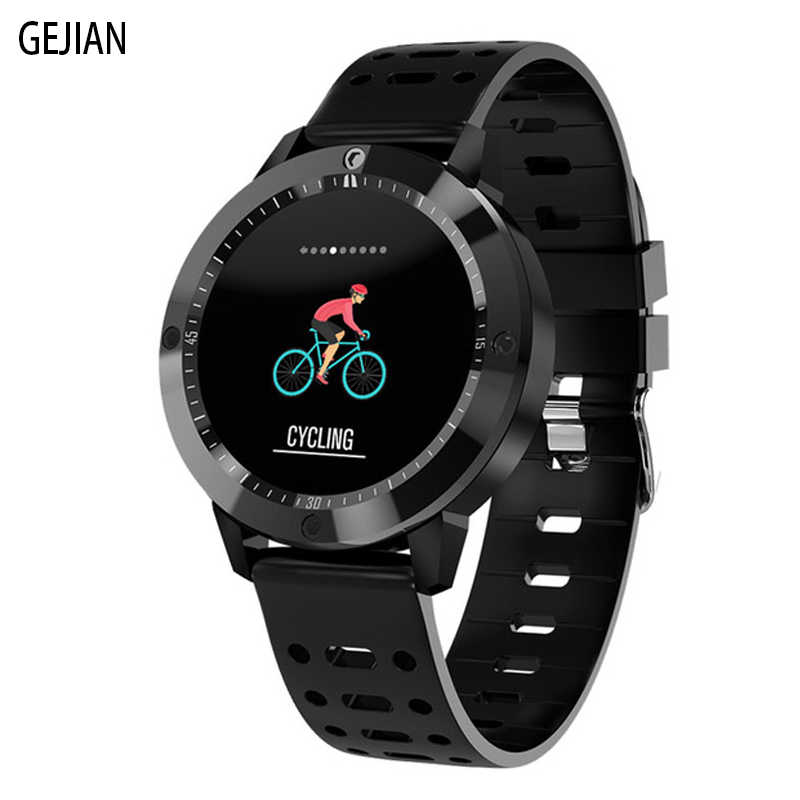GEJIAN New Smart Watch Men Women Running Fitness Tracker Heart Rate Monitor Sports IP67 IOS Android Waterproof Smart Bracelet