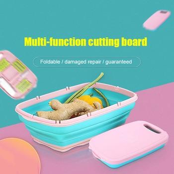 Portable Durable pliant en plastique planche à découper multifonctionnel activités de plein air cuisine intérieure cuisine intérieure fournitures *