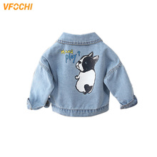 VFOCHI New Arrival Girl Denim Jacket Fashion Coats Children Clothing Autumn Baby Girls Clothes Outerwear