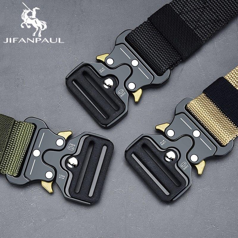 JIFANPAUL Cintura Maschile Tattico militare degli uomini della Cinghia di Tela Cintura Esterna Tattico Militare di Nylon Cinture Army Tactical cintura degli uomini di Nylon