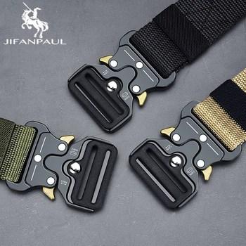 tactical JIFANPAUL Belt Male Tactical military Canvas Belt Outdoor Tactical Belt men's Military Nylon Belts Army Tactical belt Nylon men