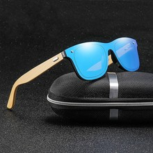 JASPEER Natural Wooden Sunglasses Men Polarized Fashion Sun