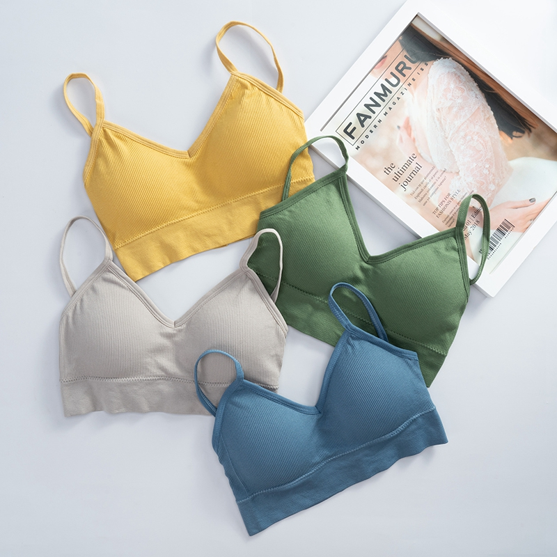 Women Tank Crop Top Seamless Underwear Female Crop Tops Sexy Lingerie Intimates Fashion With Removable Padded Camisole 1/2Pcs - underwear
