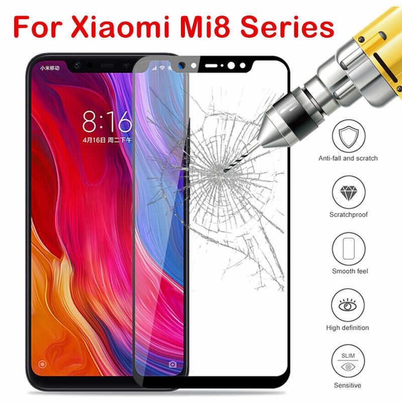 Mi 8 زجاج واقي ل Xio mi 8 light mi 8SE mi 8pro Explorer أمان واقي للشاشة على xao mi 8 mi 8lite زجاج مقسى