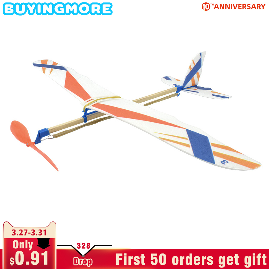 DIY Kids Toys Rubber Band Powered Aircraft Model Kits Toys For Children Foam Plastic Assembly Planes Model Science Toy Gifts