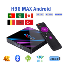 Android smart tv box Media Player 2G 16G H96 MAX Rockchip RK3318 4GB RAM 64GB H.265 4K set top Box h96 plus support Youtube iptv h96 max smart tv box android 7 1 rockchip rk3328 4gb ram 64gb rom iptv smart set top box 4k usb 3 0 hdr h 265 media player box