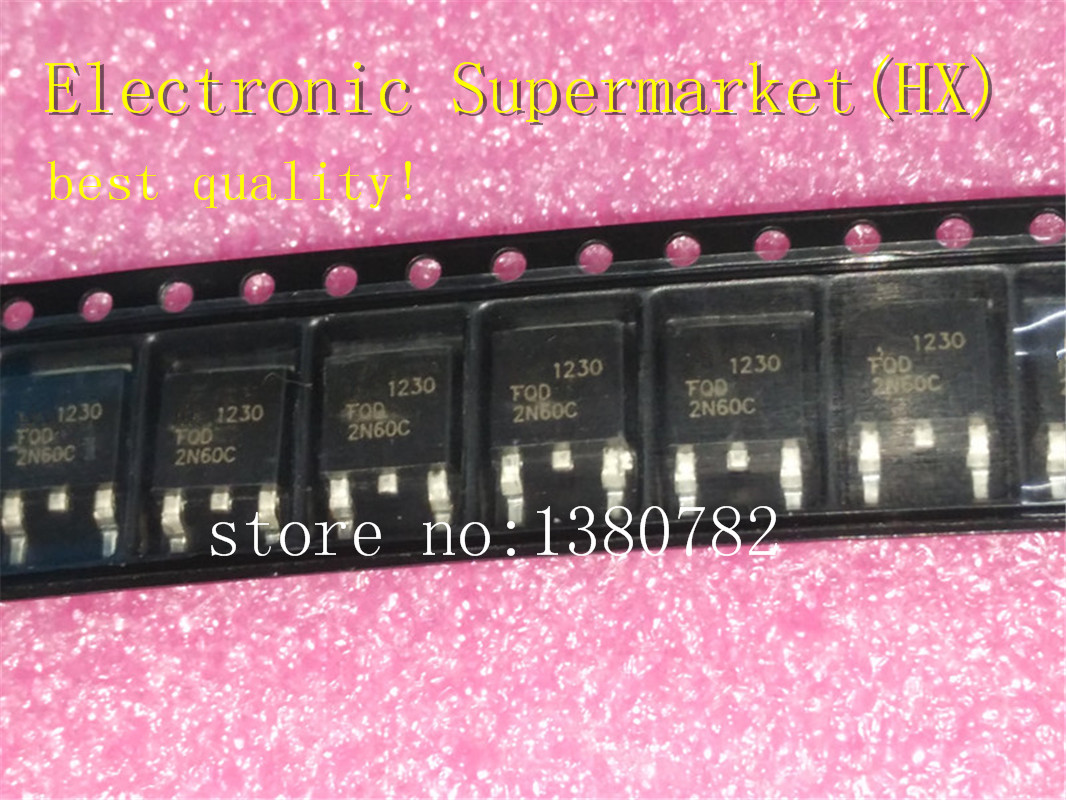 Free Shipping 100pcs/lots FQD2N60C <font><b>2N60C</b></font> TO-252 New original IC In stock! image