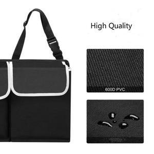 Image 5 - Car Organizer Trunk Backseat Adjustable Storage Bag Net High Capacity Multi use Oxford Back Interior Accessories Automobile Seat