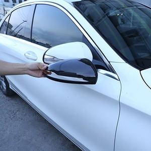 Цветная накладка на зеркало заднего вида автомобиля из углеродного волокна, декоративная наклейка для Mercedes Benz C E S GLC Class W205 W213 X253 RHD LHD