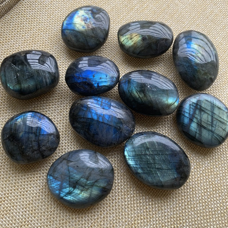 1pc Natural Blue Color Genuine Labradorite Original Labradorite Moonstone Natural Stones Ornament Moonstone Send Random Dropship