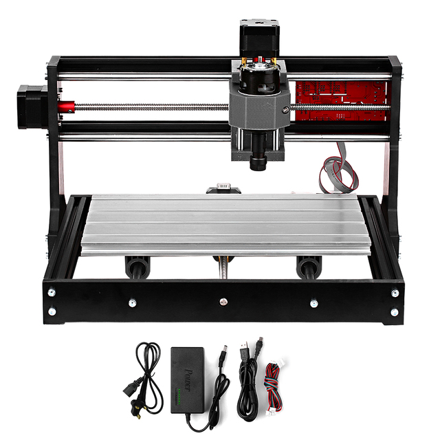 CNC 3018 Pro GRBL Control CNC Machine Wood Router Laser Engraver with Offline Controller ER11 5mm Extension Rod Woodworking Tool 1