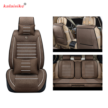 Kalaisike Linen Universal Car Seat covers for Ford all models focus fiesta s-max mondeo explorer ecosport car styling accessorie