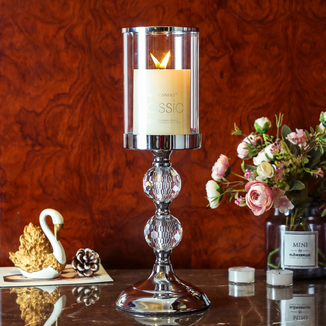 Europe Style Crystal Candlestick Holder For Dining...