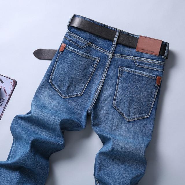 Smart Jeans Business Fashion Straight Regular Blue Denim  4