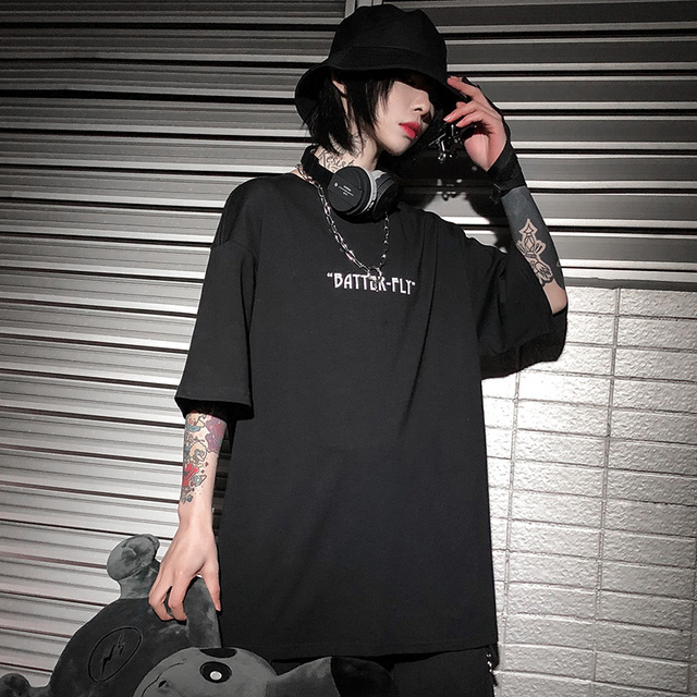 Hip Hop Oversize T Shirt Men 2020 Streetwear Harajuku Color Butterfly Tshirt Short Sleeve Cotton Loose HipHop T-Shirt Plus Size 5