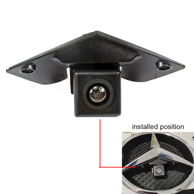 רחב זווית CCD HD רכב לוגו סימן מצלמה עבור בנץ מרצדס ויטו ויאנה לABCESM G GL SLK GLK SL R GLA ראיית לילה