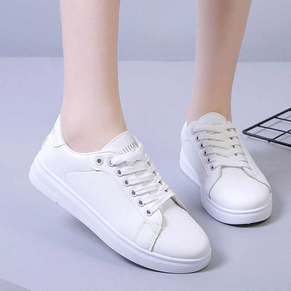 Sagace Nữ Giày Thể Thao Thời Trang Nữ Thoáng Khí Đáy Dày Buộc Dây Giày Casual Nữ Giày Nữ Cơ Bản giày