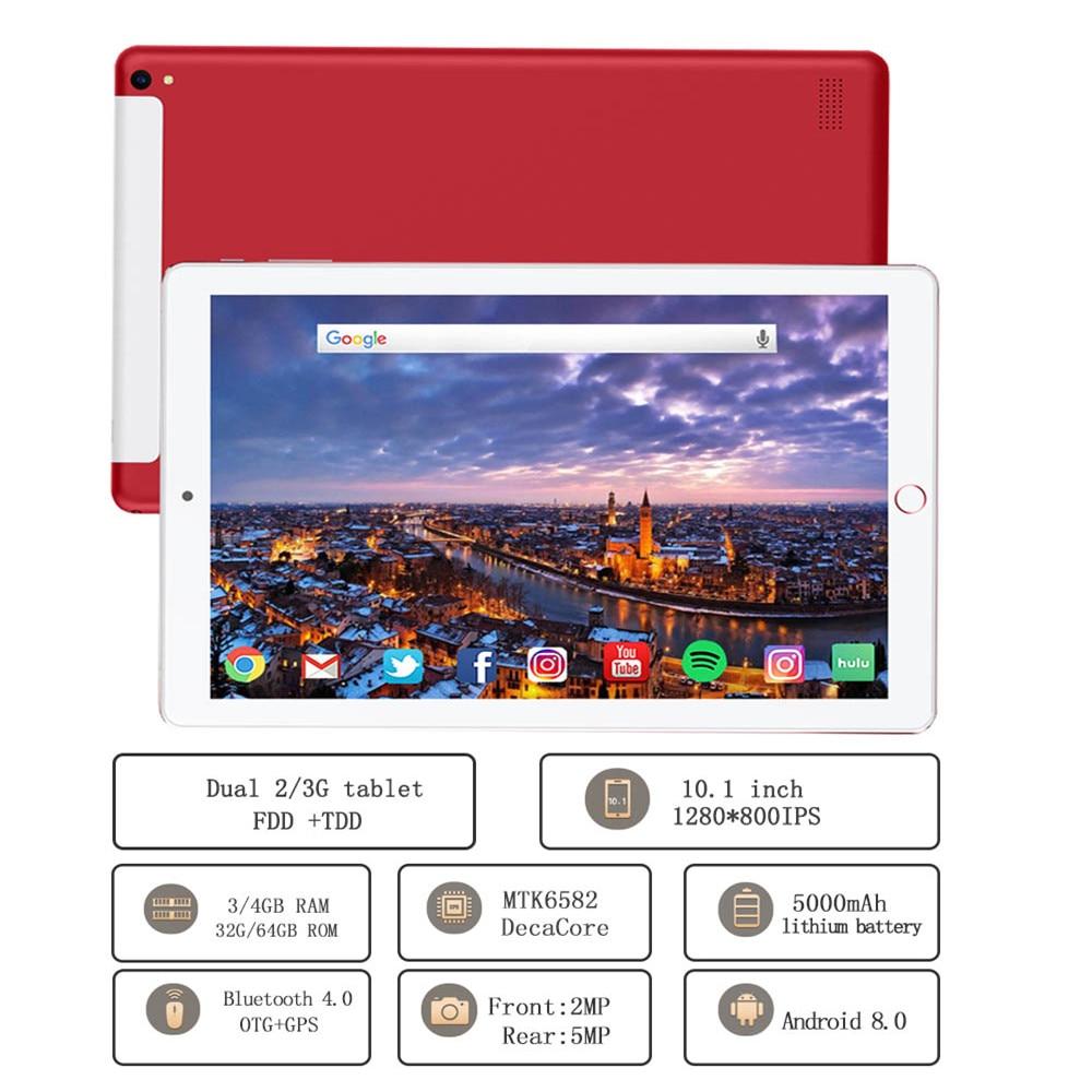 NEW 10.1 Inch Tablet Pc Quad Core 2019 Original Powerful Android 3GB RAM 32GB ROM IPS Dual SIM Phone Call Tab Phone Pc Tablets