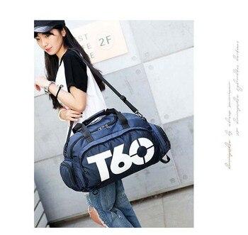 New Sport Gym Bag Men Women Outdoor Waterproof Backpack Separate Space For Shoes Handle Bag 6