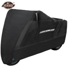 שחור עמיד למים אופנוע כיסוי S 4XL Moto Biker Dustproof UV מגן חיצוני Moto קטנוע Motobike מעיל גשם S 4XL