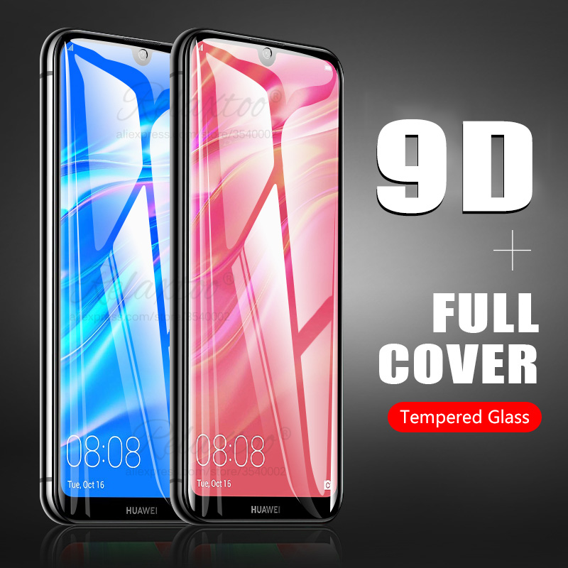 9D Curved Full Cover Protective Glass On The For Huawei Y7 Y6 Y5 Pro Prime 2019 Tempered Glass Y 5 6 7 Screen Protector Y62019