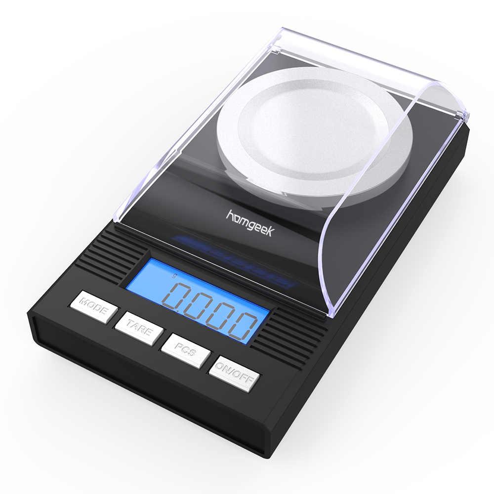 Cân Điện Tử 0.001 Màn Hình LCD Kỹ Thuật Số Cân Trang Sức Dược Liệu Di Động Phòng Trọng Lượng Miligam Quy Mô Dụng Cụ Nhà Bếp Cân Bằng