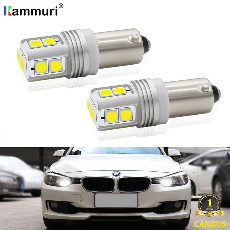 2Pcs Xenon Weiß CanBus BAX9S H6W 10SMD Led-lampen Für BMW F20 F30 F31 F34 LED Seitenlichter Parkplatz licht